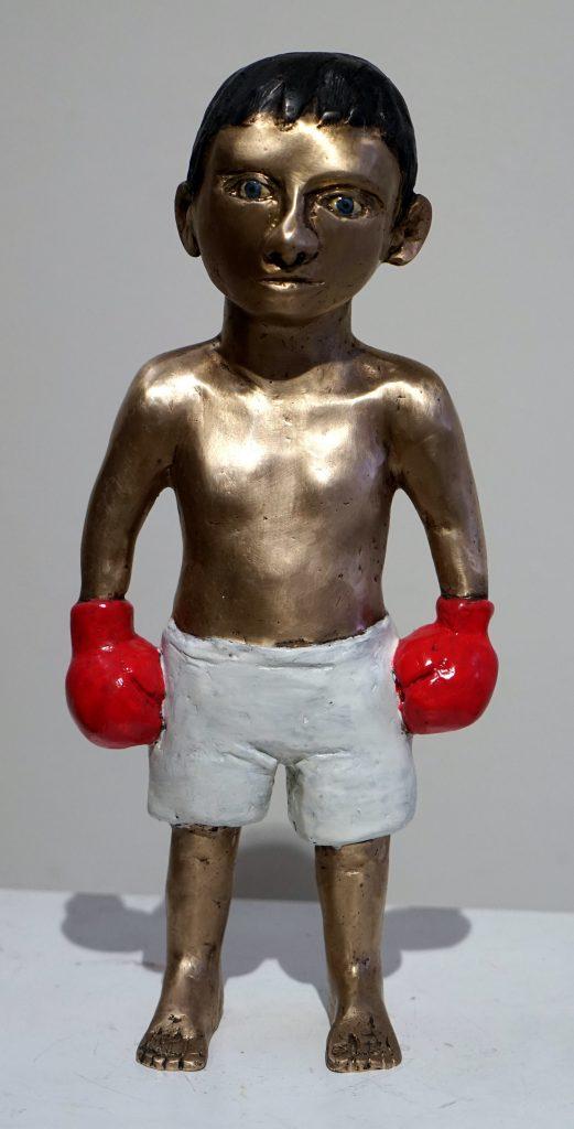 Bronze, figürlich, boxer