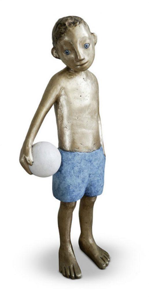 bronze, fussball, geschwister, kinder