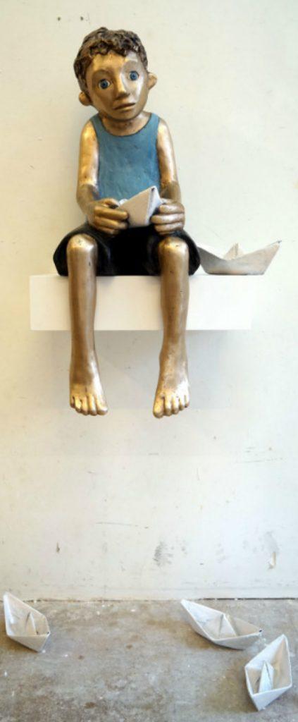 bronze, boot, schiff, meer, lago maggiore
