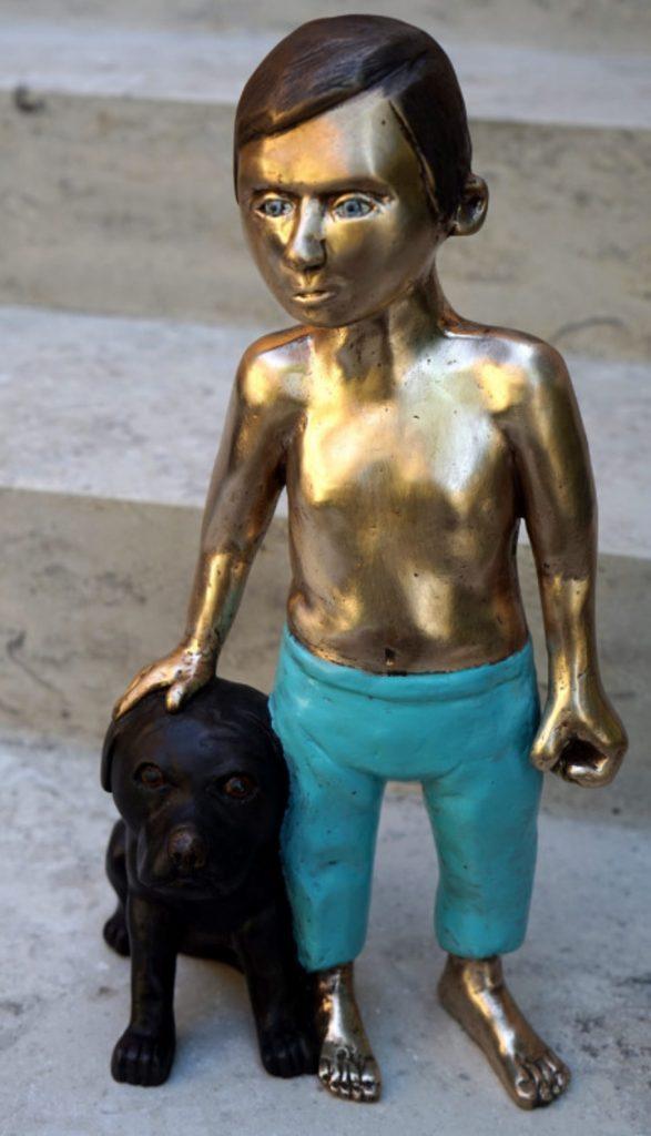 Bronze, Hund, Hotel Giardino Ascona