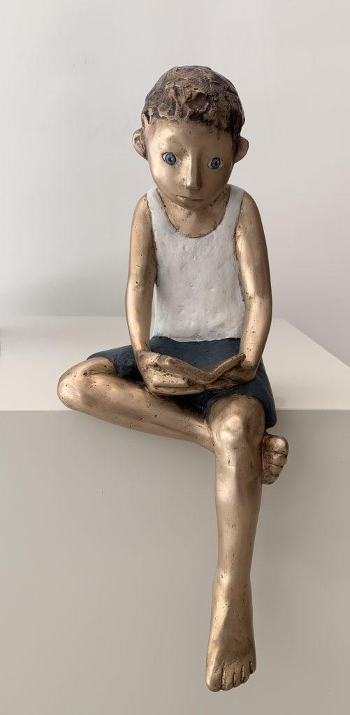 bronze, lesen, buch, Bücherwurm, Leseratte