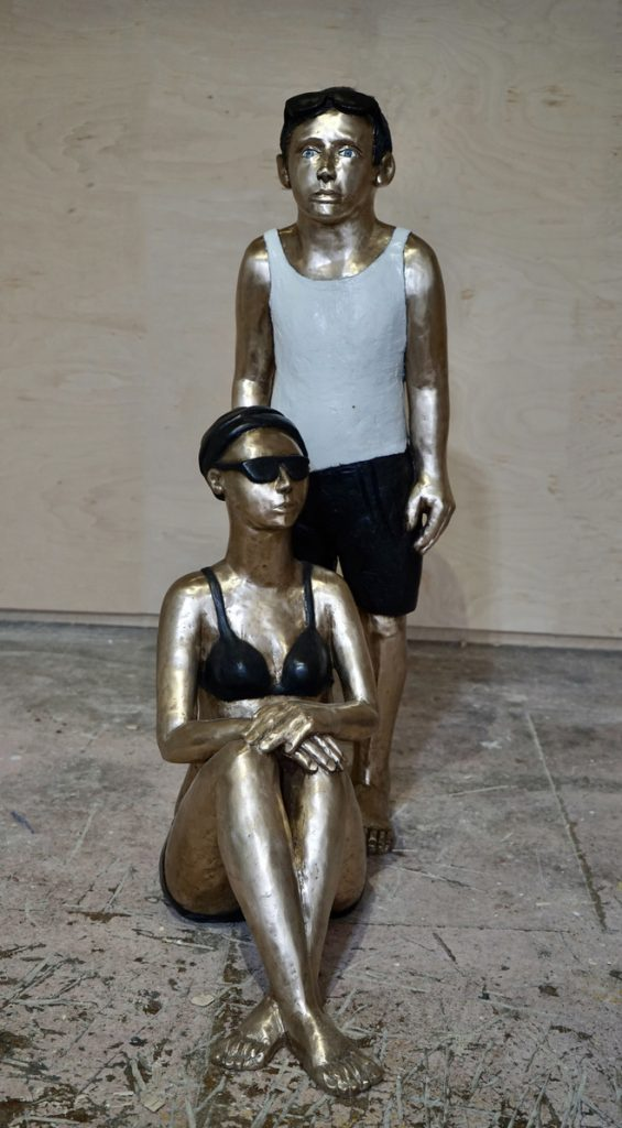 Bronze, figürlich, hotel Giardino Ascona