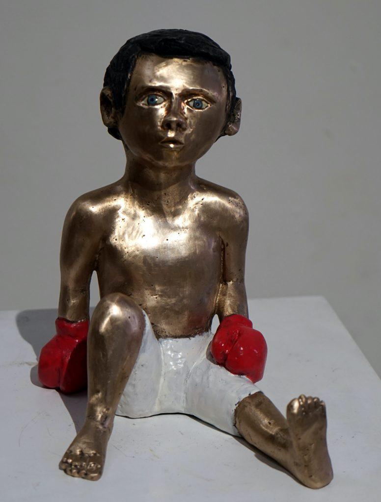 Bronze, boxen, figürlich
