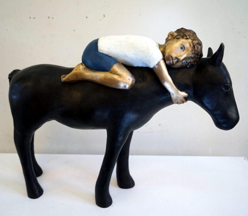 bronze, pferd, freundschaft, einheit
